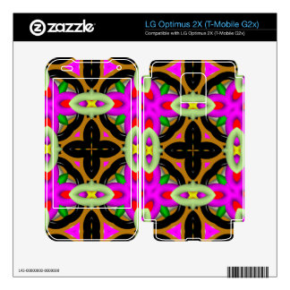 Multicolored Abstract Kaleidoscope LG Optimus 2X Decals