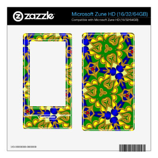 Multicolored Abstract Kaleidoscope Skins For The Zune HD