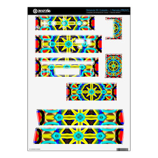 Multicolored Abstract Kaleidoscope Decal For Nintendo Wii