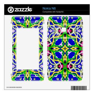 Multicolored Abstract Kaleidoscope Nokia N8 Skin