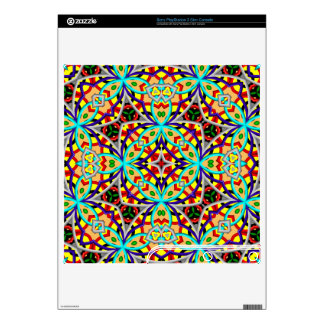 Multicolored Abstract Kaleidoscope Skin For The PS3 Slim