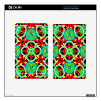 Multicolored Abstract Kaleidoscope Skins For Kindle Fire