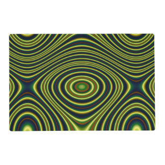 Multicolored abstract line pattern placemat