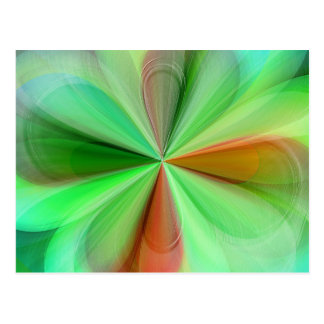 Multicolored abstract No. 32 created by Tutti Postcard