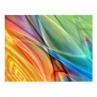Multicolored abstract No. 52 created by Tutti Postcard