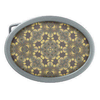 multicolored  Abstract Pattern Oval Belt Buckle