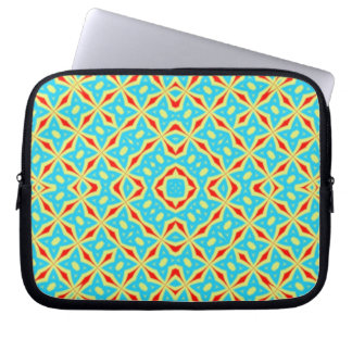 Multicolored Abstract Pattern Computer Sleeve
