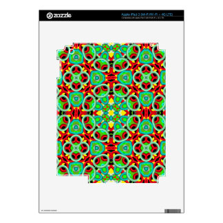 Multicolored abstract pattern decal for iPad 3