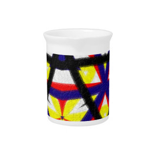 Multicolored abstract pattern drink pitcher