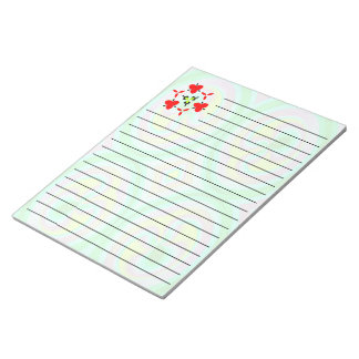 Multicolored abstract pattern note pad