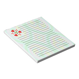 Multicolored abstract pattern notepad