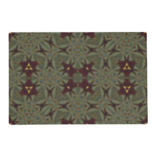 Multicolored Abstract Pattern Laminated Placemat