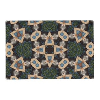 Multicolored Abstract Pattern Laminated Place Mat