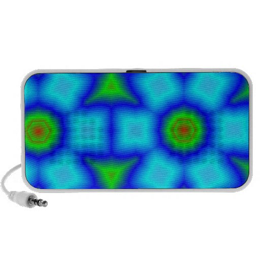 Multicolored abstract pattern portable speakers