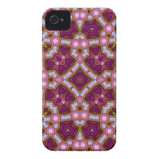 Multicolored Abstract Pattern purple pink iPhone 4 Cases
