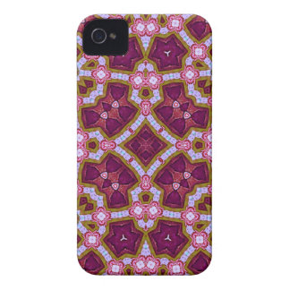 Multicolored Abstract Pattern purple pink iPhone 4 Case-Mate Cases