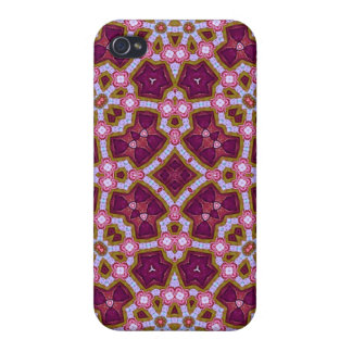 Multicolored Abstract Pattern purple pink Cases For iPhone 4