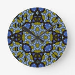 Multicolored Abstract Pattern Round Wallclocks
