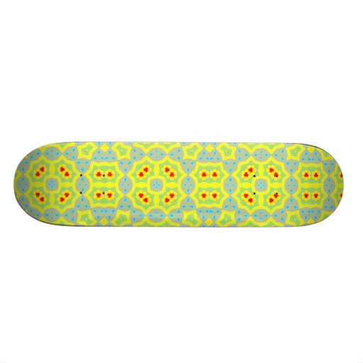 Multicolored Abstract Pattern Skateboard