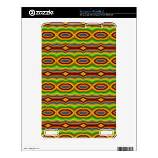 Multicolored abstract pattern kindle 2 decal