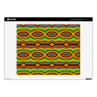 "Multicolored abstract pattern skin for 14"" laptop"