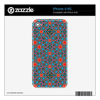 Multicolored abstract pattern skin for iPhone 4