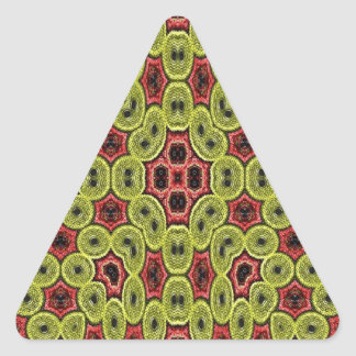 Multicolored abstract pattern triangle sticker