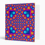 Multicolored Abstract Pattern Vinyl Binder