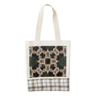Multicolored Abstract Pattern Zazzle HEART Tote Bag