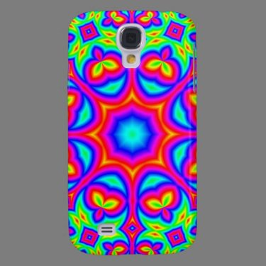 Multicolored abstract pern samsung galaxy s4 case