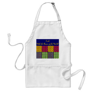 Multicolored African Patchwork Adult Apron