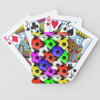 Multicolored American Soccer or Football Bicycle Playing Cards