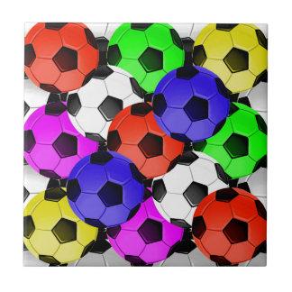 Multicolored American Soccer or Football Ceramic Tile