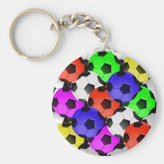 Multicolored American Soccer or Football Keychain
