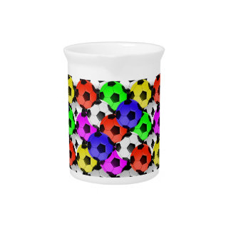Multicolored American Soccer or Football Drink Pitchers