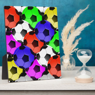 Multicolored American Soccer or Football Display Plaques