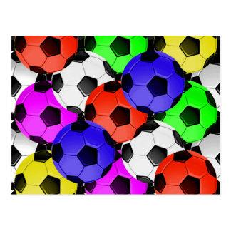 Multicolored American Soccer or Football Postcard