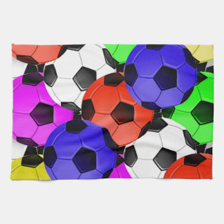 Multicolored American Soccer or Football Towel