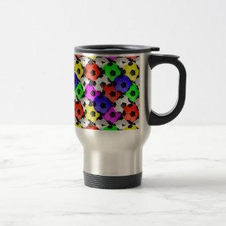 Multicolored American Soccer or Football Travel Mug