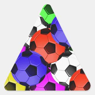 Multicolored American Soccer or Football Triangle Sticker