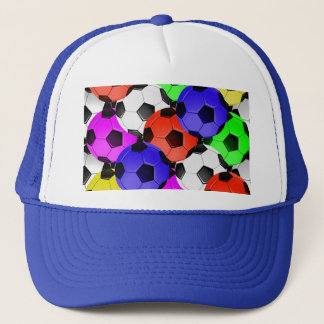 Multicolored American Soccer or Football Trucker Hat