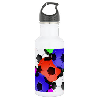 Multicolored American Soccer or Football Water Bottle