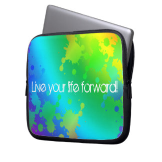Multicolored and colorful color splash computer sleeve