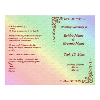"""Multicolored Angled Flower Pattern Wedding Flyer 8.5"""" X 11"""" Flyer"""