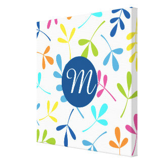 Multicolored Assorted Leaves Design (Personalized) Canvas Print