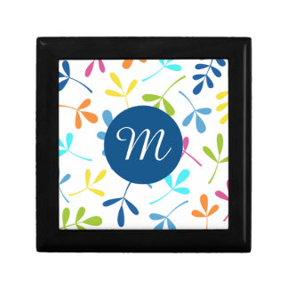 Multicolored Assorted Leaves Design (Personalized) Keepsake Box