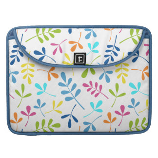 Multicolored Assorted Leaves Pattern Sleeve For MacBook Pro
