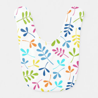 Multicolored Assorted Leaves Pattern Bibs