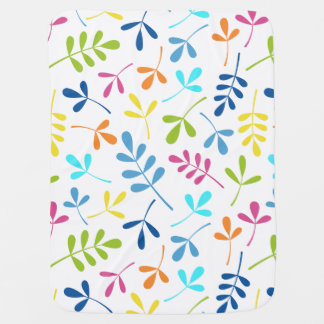 Multicolored Assorted Leaves Pattern Baby Blankets