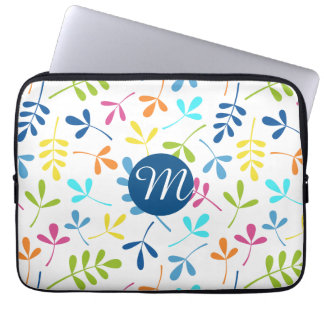 Multicolored Assorted Leaves Ptn (Personalized) Computer Sleeve
